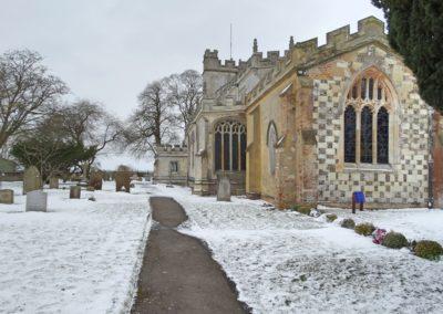 Totternhoe Church Snowing