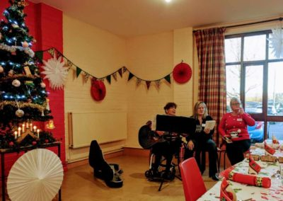 Christmas Lunch 2019 beautifully decorated hall