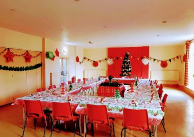 Christmas Lunch 2019 beutifully decorated hall