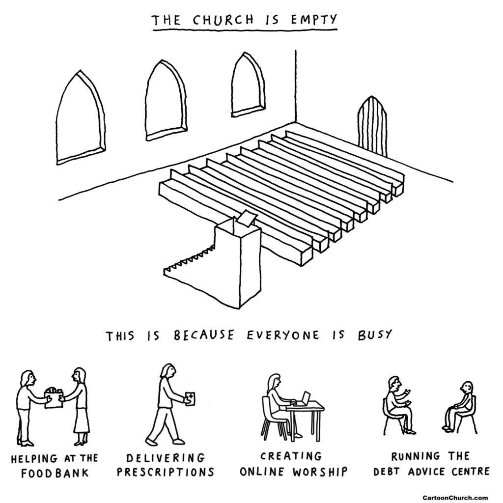 Church is busy